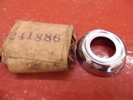 NOS 1930 'S HUPMOBILE ESCUTCHEON TRIM RING MOULDING CHROME 241886