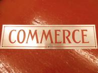 20 's 30 's Commerce Truck Nameplate Logo Emblem Fender Badge