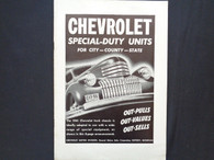 1941 Chevrolet Special - Duty Units Sales Brochure Chevy 41
