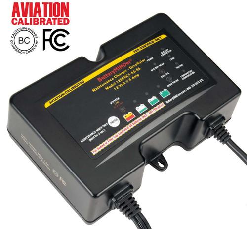 BatteryMINDer® Model 128CEC1-AA-S5: 12V 2/4/8 AMP Charger-Maintainer-Desulfator