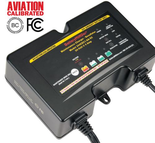 BatteryMINDer Model 244CEC1-AA-S2 24V 2/4/8 AMP 2/4/8 AMP GILL® Aviation Battery Charger/Maintainer/Desulfator