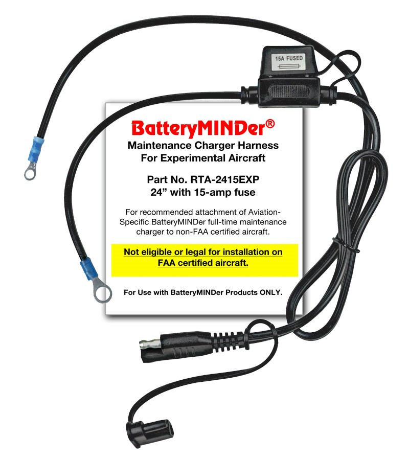 BatteryMINDer Model RTA-2415EXP Connection for Experimental Aircraft