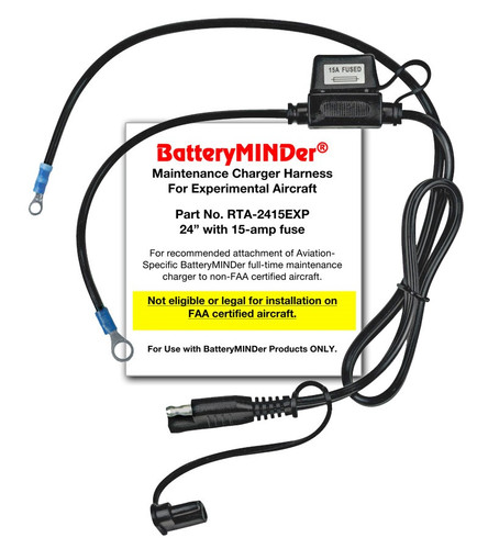 BatteryMINDer Model RTA-2415EXP Connection for Experimental Aircraft (RTA-2415EXP)