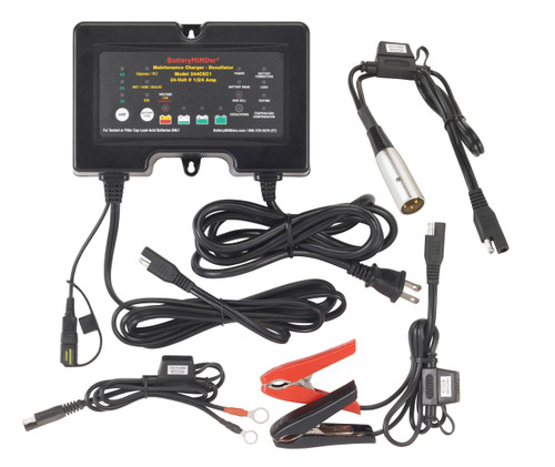 BatteryMINDer® Model 244CEC1-XLR2: 24V 1/2/4 AMP Charger-Maintainer-Desulfator for Everest & Jennings Power Chairs & Mobility Scooters