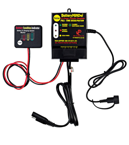 BatteryMINDer Model SCC-180: 12 Volt 180 Watt (12V 180W) Solar Charger-Maintainer-Desulfator Controller Only