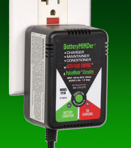 BatteryMINDer Model 12106: 6Volt 1.33 Amp Charger/Maintainer/Desulfator