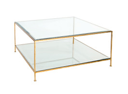 Quadro Gold Square Coffee Table