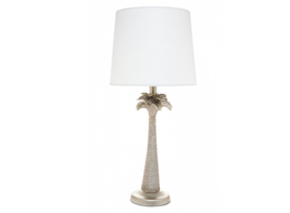 Pineapple Lamp with White Shade