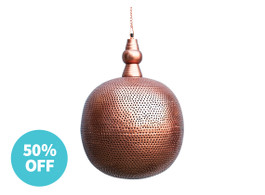 Tangier Copper Round Pendant Light