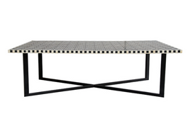 Bone Inlay Marrakech Coffee Table in Black