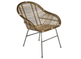 Natural Rattan Banjar Armchair