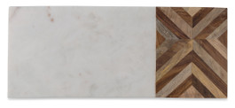 Chevron Timber and Marble Cheeseboard