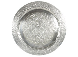 Round Aluminium Tray Kashmiri Cutwork with Hooks