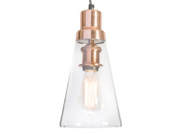 Clear Glass Pendant Antique Light With Brass Metal Holder