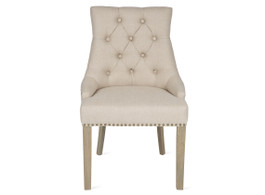 Dining Chair With Buttons Detail