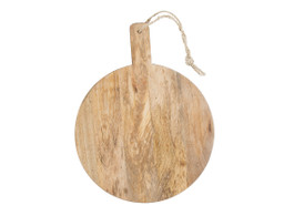 Small Mango Wood  Round Serving Board