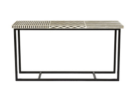 Taj Rectangular Bone Inlay Console