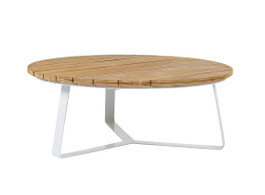 Cancun Ali Rustic Teak Round Coffee Table