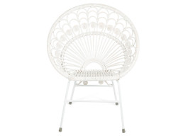 Bandung Rattan Chair With Metal Legs