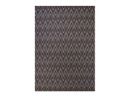 St Tropez Zig Zag Black Indoor Outdoor Entrance Matt