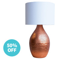 Tangier Copper Table Lamp - Warehouse Sale