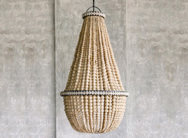 Bahama Beaded Chandelier In Natural