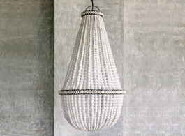 Bahama Beaded Chandelier In White