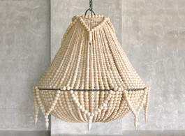 St Lucia Beaded Chandelier In Natural
