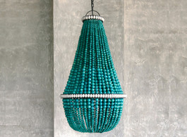 Bahama Beaded Chandelier In Turquoise