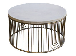 Concrete Jungle Brass Coffee Table #3 - Warehouse Sale
