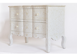 Bone Inlay Provincial Drawers in White