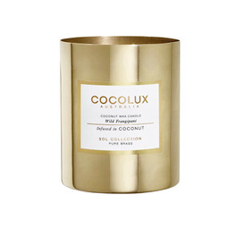 Cocolux Candle: Wild Frangipani - Brass