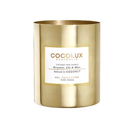 Cocolux Candle: Bergamont, Lily & Moss - Brass