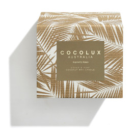 Cocolux Limited Edition Candle: Cedar & Pine - Brass