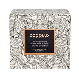 Cocolux Candle: Exotic Amber & Spice - Copper