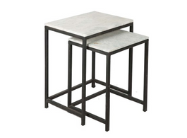 Sleek Square Set 2 Tables