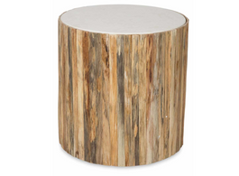 Bough Round Table with Stone Top