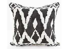 Spearhead in Black Linen Cotton Cushion