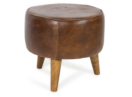 Buck Leather Stool