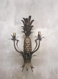 Pineapple Wall Sconce Matt Bronze