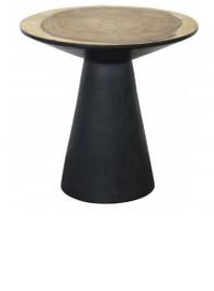 Elanda Side Table Black with Natural Top