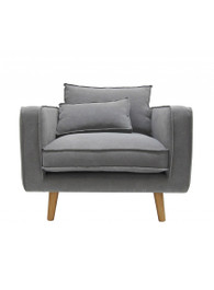 George Armchair  in Grey
