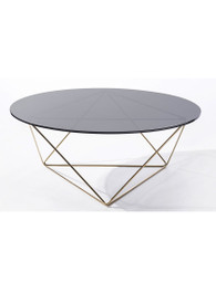 Metageo Coffee Table in Brass