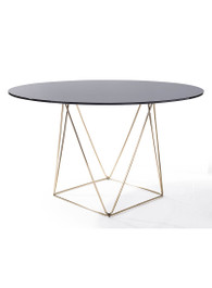 Metageo Dining Table in Brass