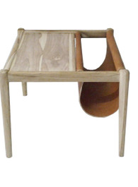 Marvin Side Table in Dark Tan