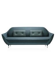 Suki Sofa in Steel Blue Velvet