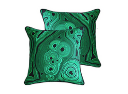 Greg Natale Malachite Green Cushion