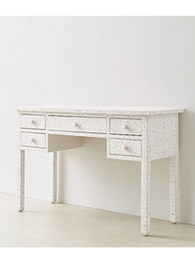 White & Mother Of Pearl Inlay Desk