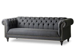 Arden Chesterfield Sofa in Black