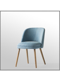 Doma Chair in Stonewash Blue